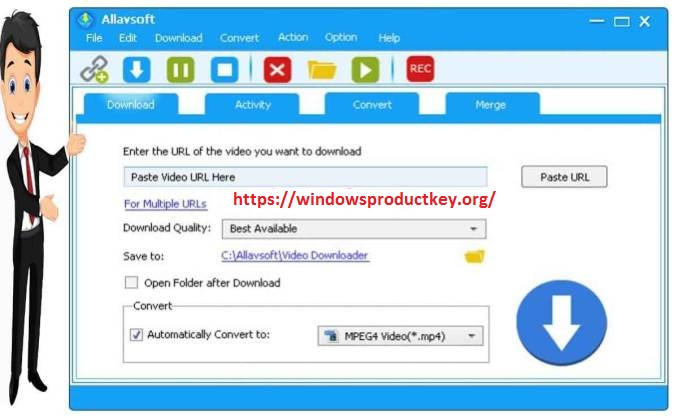 Allavsoft Video Downloader Converter 3.22.2.7355 Crack Serial Key