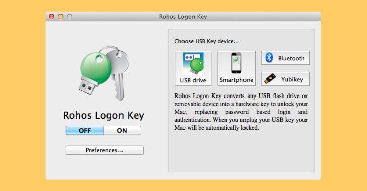 Rohos Logon USB Lock key