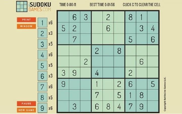 sudoku google chrome game