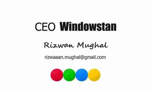 Rizwan Mughal @ Windowstan
