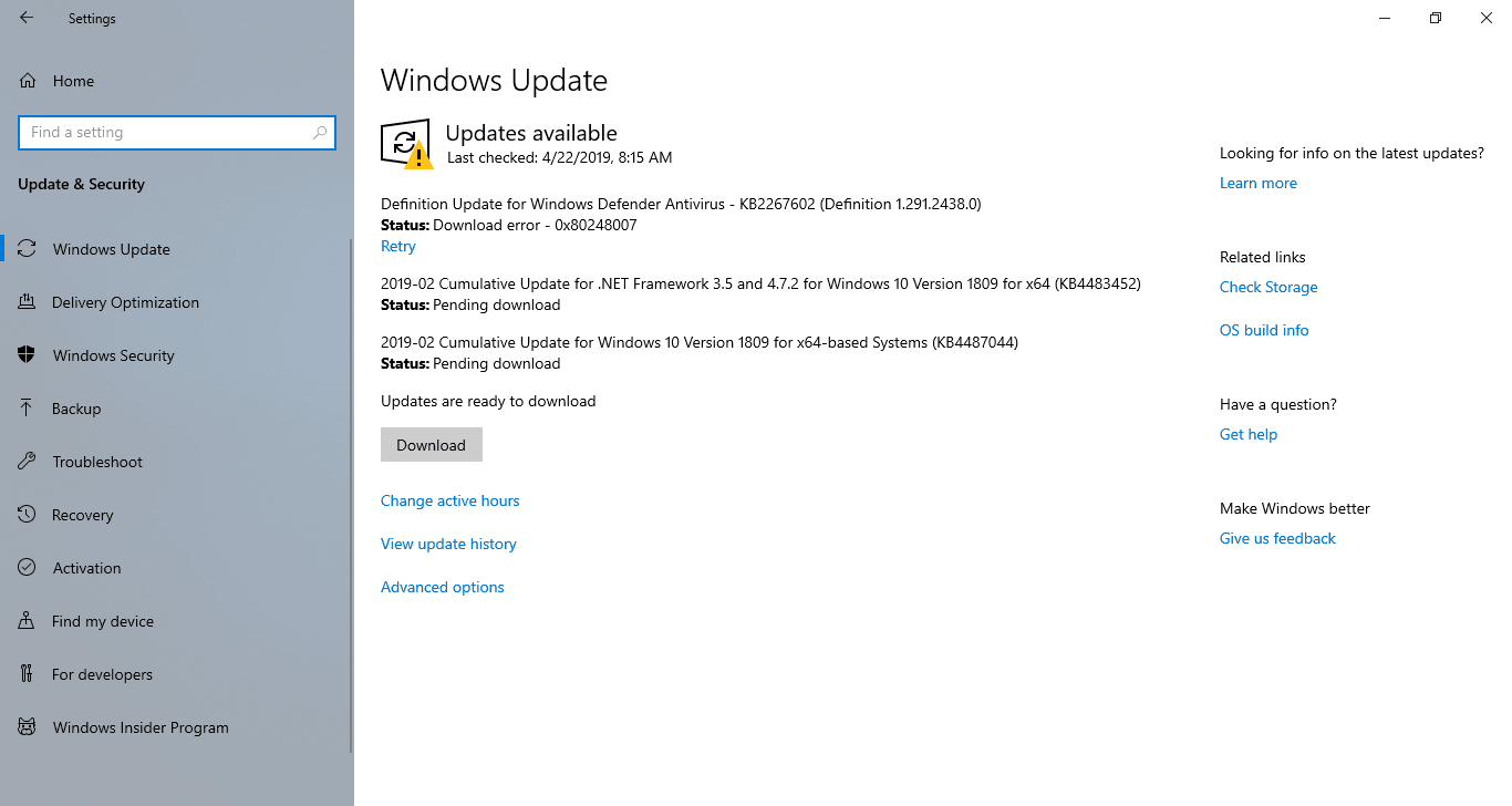 Windows 10 Update Available for Download - Windowstan