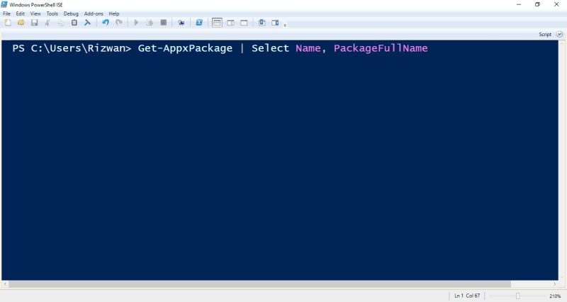 1-PowerShell Get Package Name List