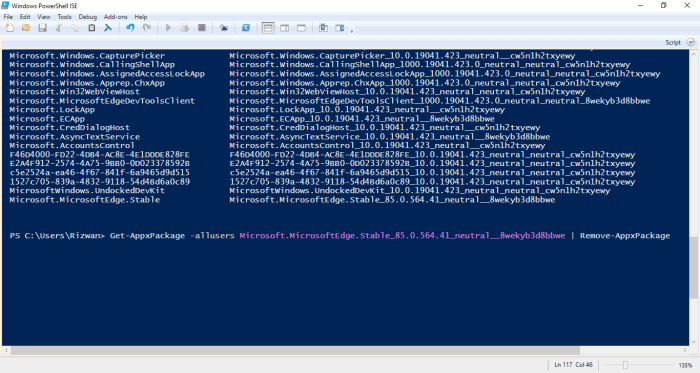 5-remove Edge appx for all users using PowerShell