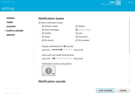 Metro Twit Free Desktop Twitter Program
