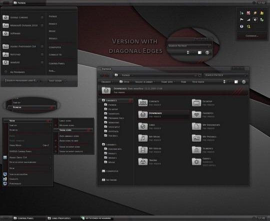 Download Free Dynamic Black Windows 7 Theme 3rd Party