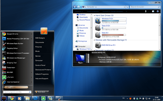 Download Free SteelFlash Windows 7 Theme 3rd Party