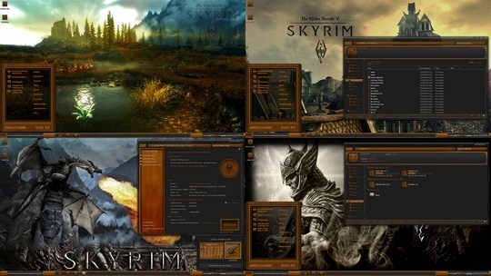 Download Free Skyrim Elder Scrolls Wood Windows 7 Theme suite