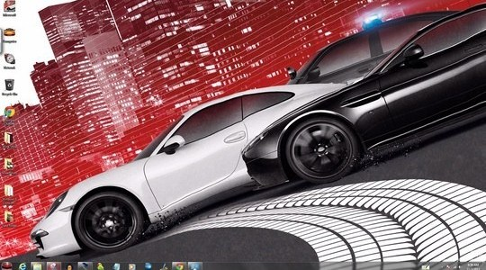 NFS Most Wanted 2012 Windows Theme With Icons, Sounds & cursors