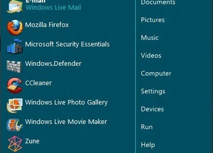 """ViStart"" Free Startmenu For Windows 8 With Many Skins"
