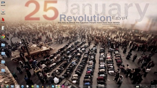 Download Free 25 jan Egyptian Revolution Windows Theme With Sounds, Cursors & Icons