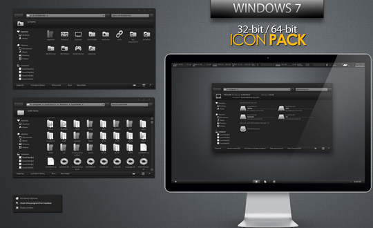 Download Free Black White Windows 7 Icon Pack