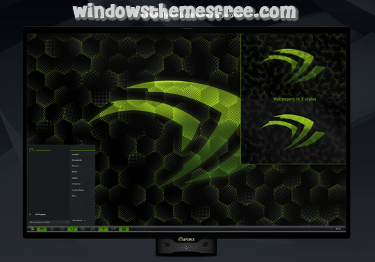Download Free nVidia Windows 7 Visual Style