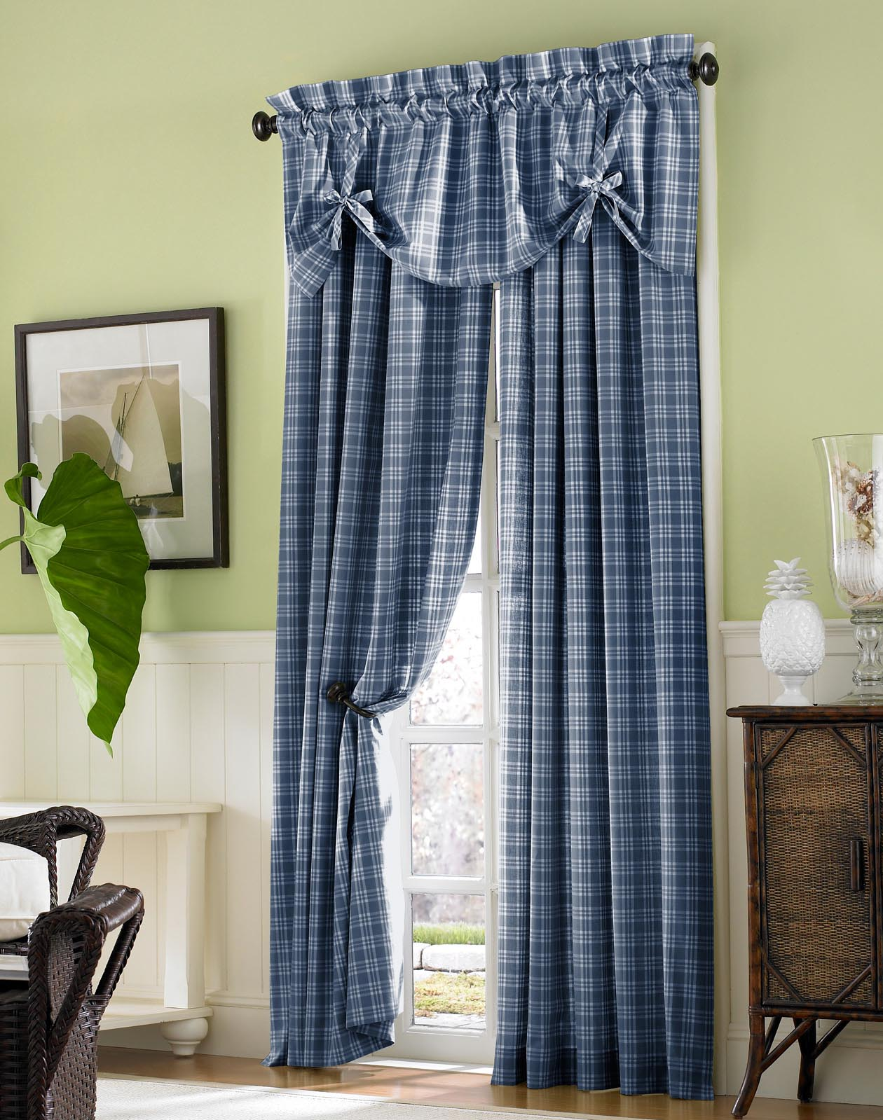 Country Curtains Plaid Valances