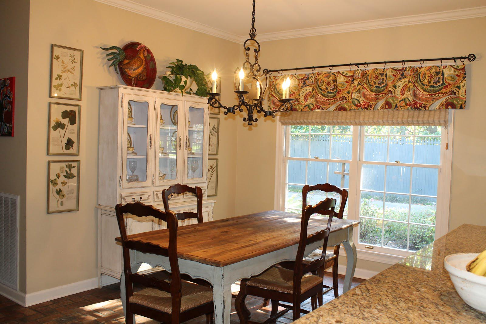 French Country Valances For Kitchen