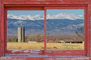 Rustic Red Barn Picture Window Colorado Country View