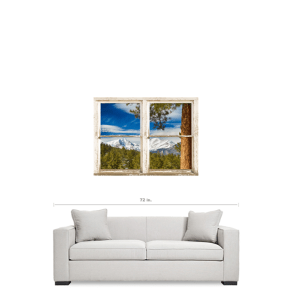 Colorado Rocky Mountain Rustic Window View 30″x40″x1.25″ Premium Canvas Gallery Wrap