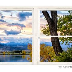 mountain window view