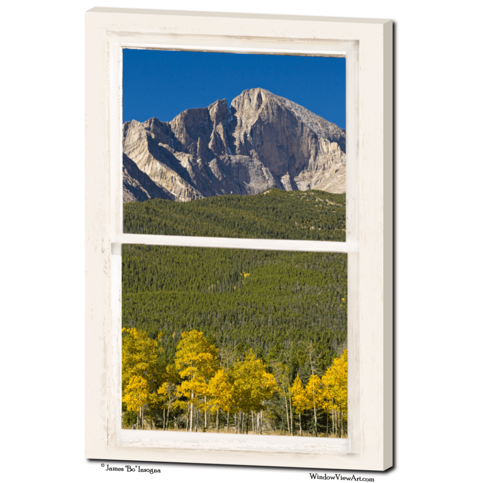 longs peak window view art