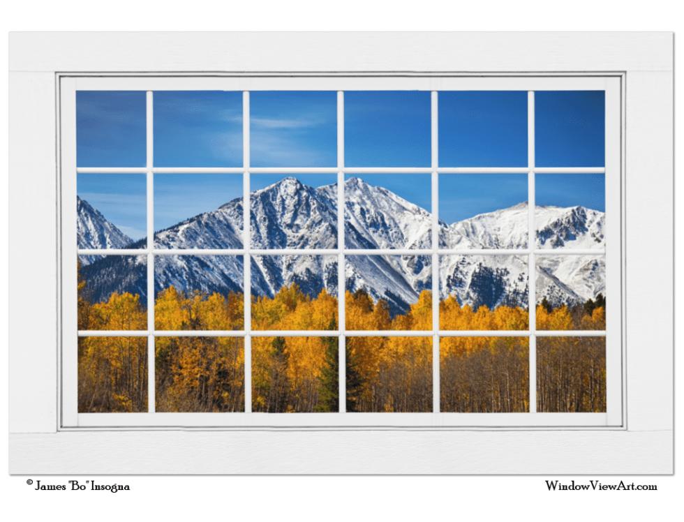 Picture window Colorado Mountain Views