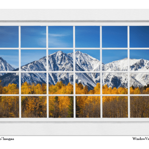 Rocky Mountain Autumn High White Picture Window 32″x48″x1.25″ Premium Canvas Gallery Wrap