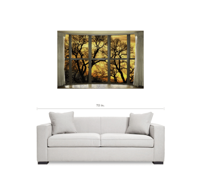 Golden Forest Bay Picture Window View 32″x48″x1.25″ Premium Canvas Gallery Wrap