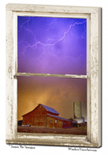 thunderstorms window view art