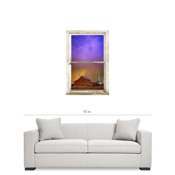 Colorful Storm Farm House Window View 24″x36″x1.25″ Premium Canvas Gallery Wrap