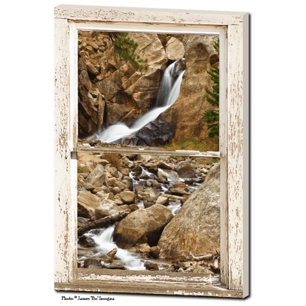 waterfall window view art