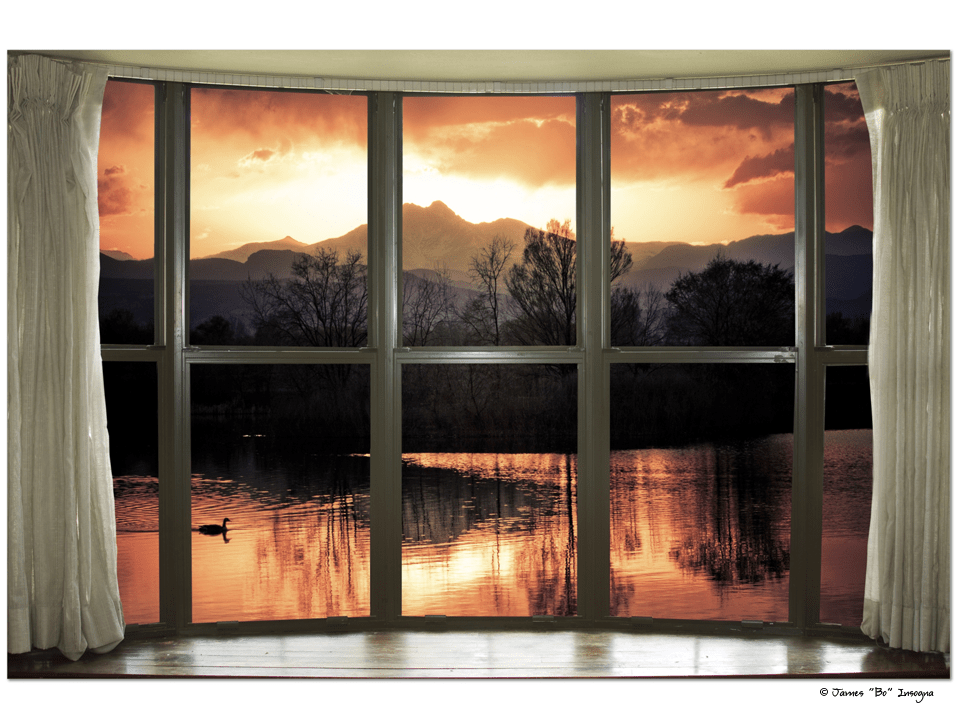 "Golden Ponds Bay Window View 32""x48""x1.25"" Premium Canvas Gallery Wrap Art"