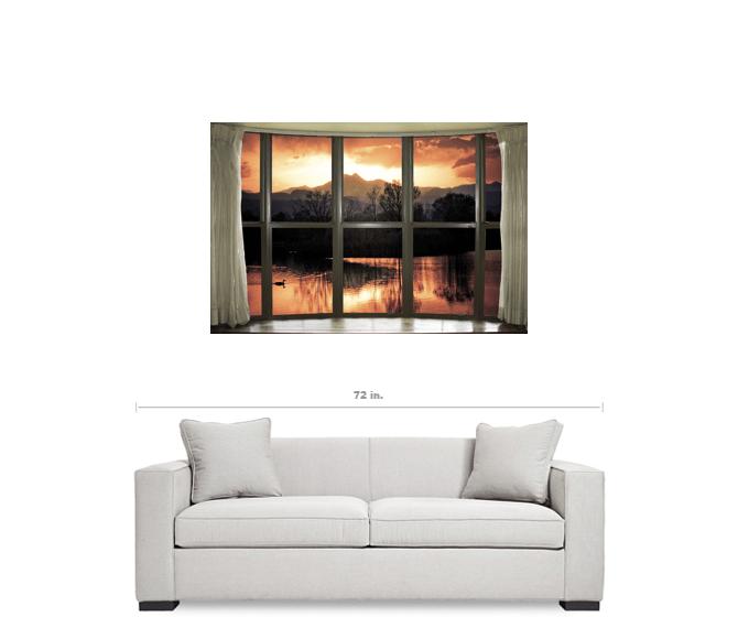 "Golden Ponds Bay Window View 32""x48""x1.25"" Premium Canvas Gallery Wrap Art"