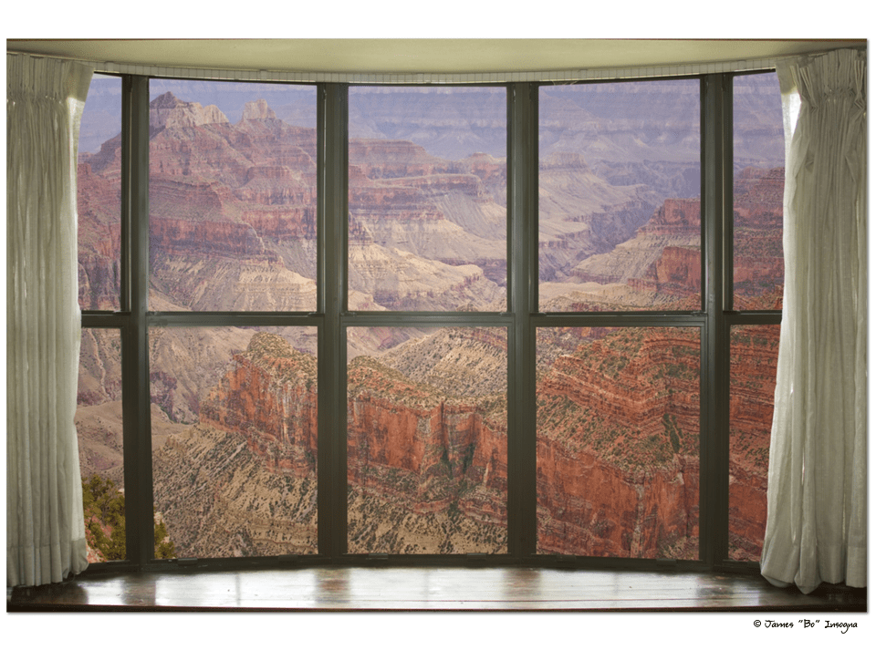 "Grand Canyon North Rim Bay Window View Art 32""x48""x1.25"" Premium Canvas Gallery Wrap"
