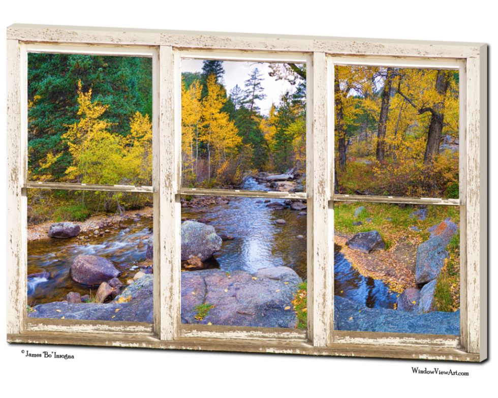 Canvas window view art for sale