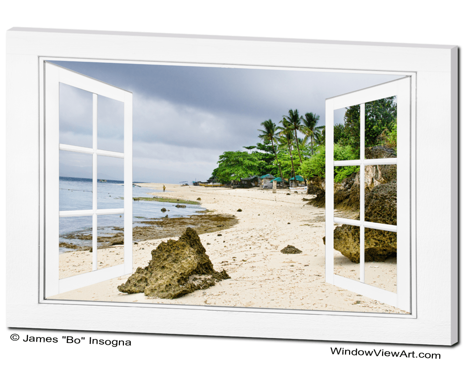 Ocean Front Beach Open White Picture Window Frame View 32x48x125