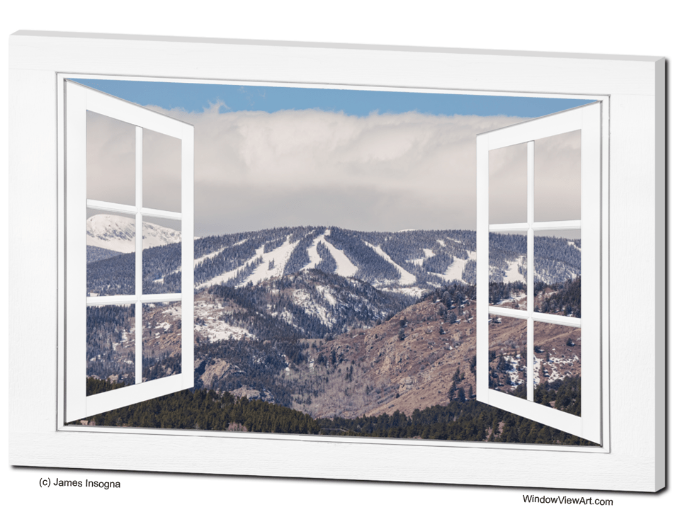 Ski Slopes Open White Picture Window Frame Art View