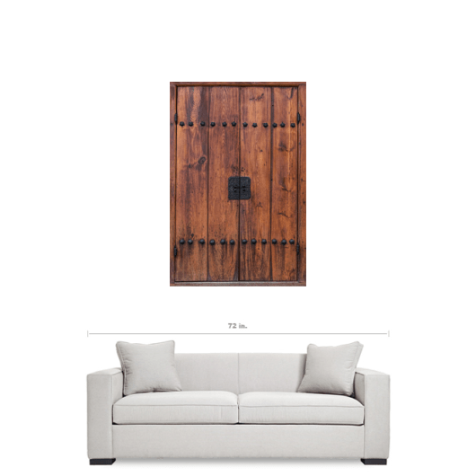 Door of Bukchon Hanok Village Seoul South Korea Wall Art 32×48 Premium Canvas Gallery Wrap