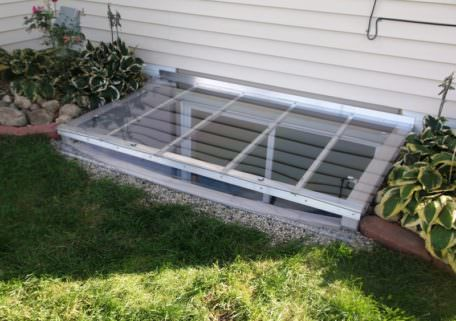 Polycarbonate Flat Egress Window Well Cover Made In Usa