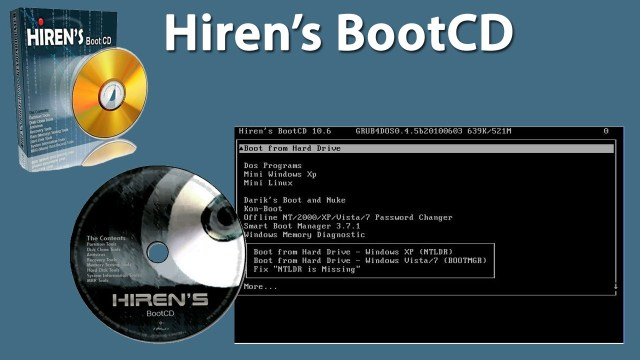 no reconoce disco duro hirens boot