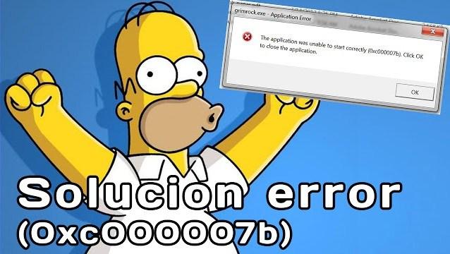solucion error 0xc00007b