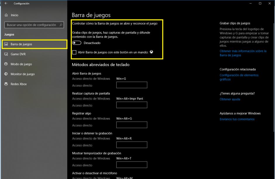 paso2 barra de juegos - Aumentar FPS solución Drops Windows 10