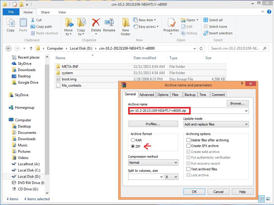 comprimiendo rom error status 7 - Error Status 7 Android al instalar ROM desde Recovery