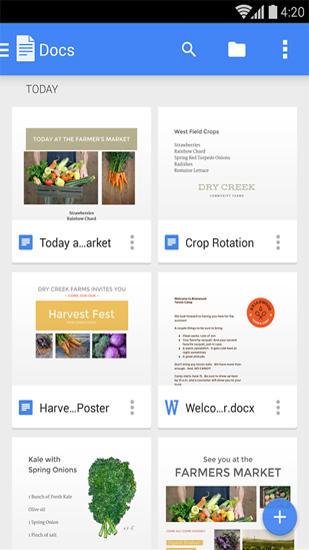 Google Docs - Aplicaciones para escribir en Android