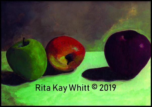 Acrylic Still Life by Rita Kay Whitt aka WHITTnessForChrist 2000