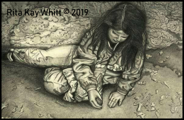 Graphite Illustration by Rita Kay Whitt aka WHITTnessForChrist 2019