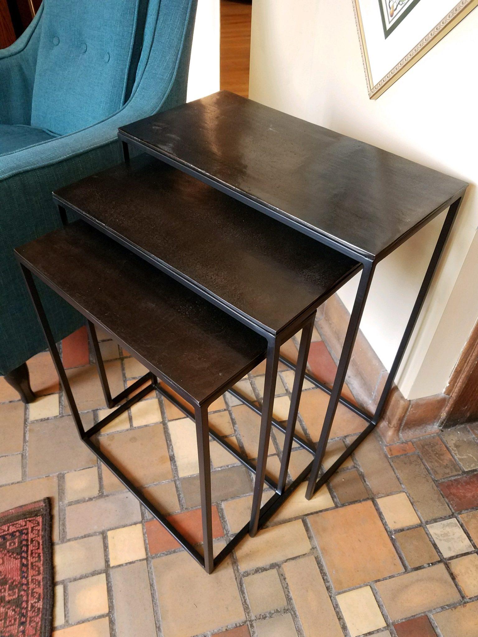 Iron Nesting Tables Set Of Three