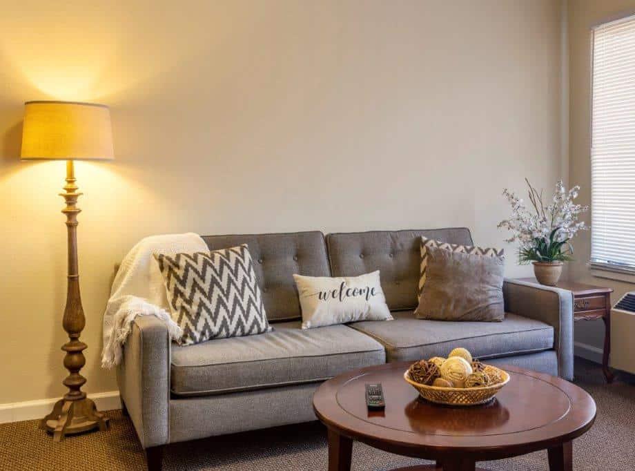 independent living senior apartment living room