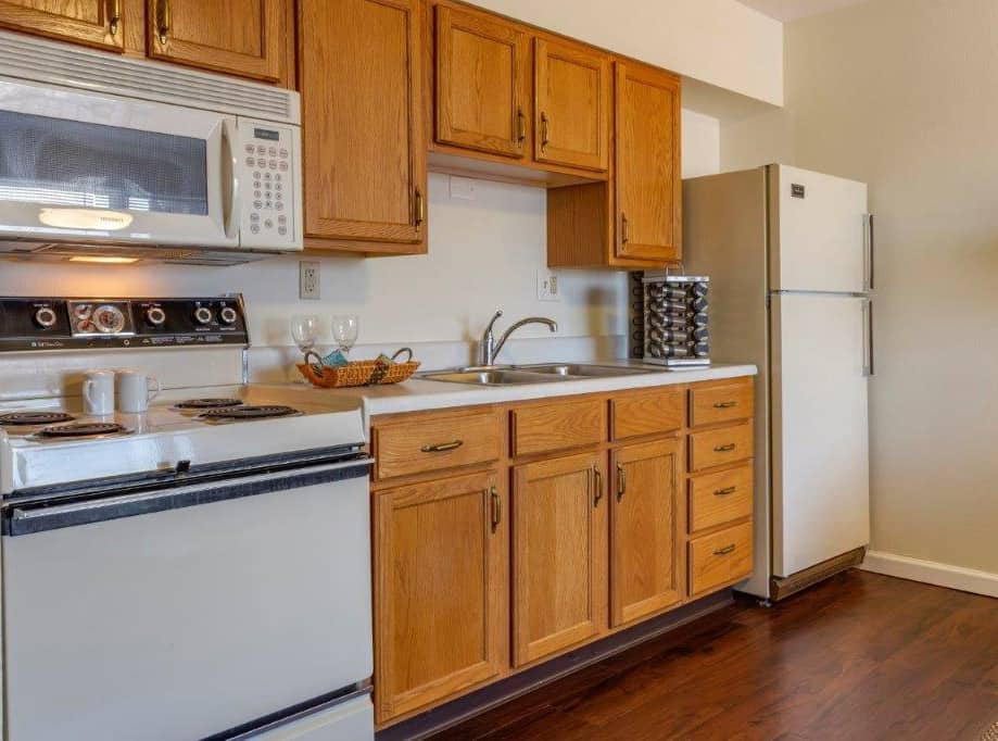 independent living senior apartment kitchen