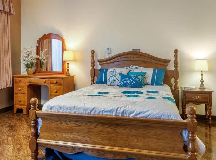 memory care senior private suite bedroom