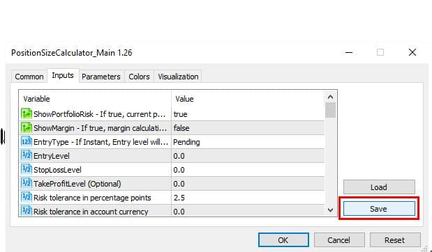 Learn How To Save And Load Indicator Settings In Metatrader