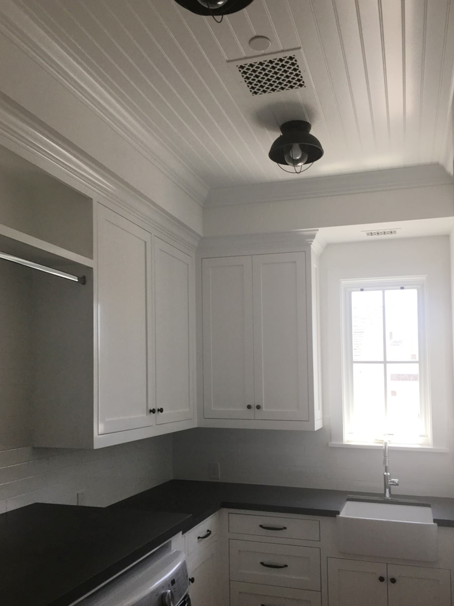 Beadboard Galley Kitchen Ceiling WindsorONE