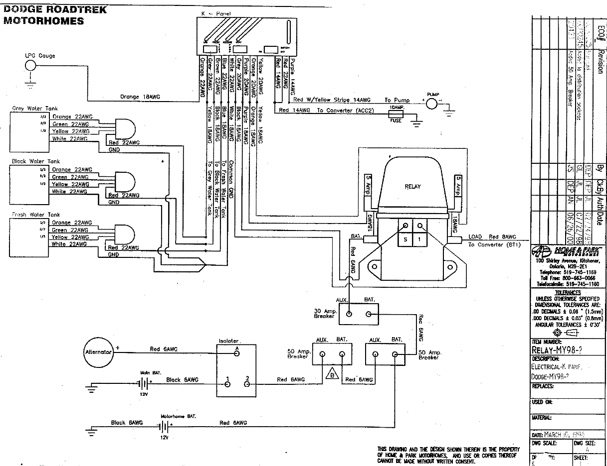 Dodge Roadtrek 190 Wiring Diagram